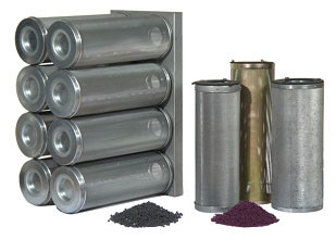 Cylinders (cartridges / canisters) for chemical filters